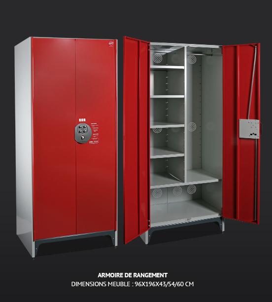 Armoire d 39 atelier m tallique pour rangement - Armoire rangement atelier ...