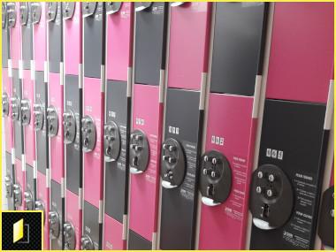 casiers individuels à codes pour le personnel