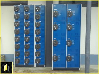 Mini casiers consignes à codes pour centre sportif