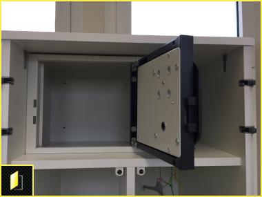 Coffre de sécurité à codes mécanique pour les patients de la Polyclinique du Sidobre