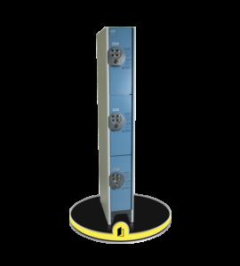 Casier métallique avec serrure à codes