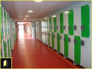 Armoire casier métallique à code pour école, collège et lycée.